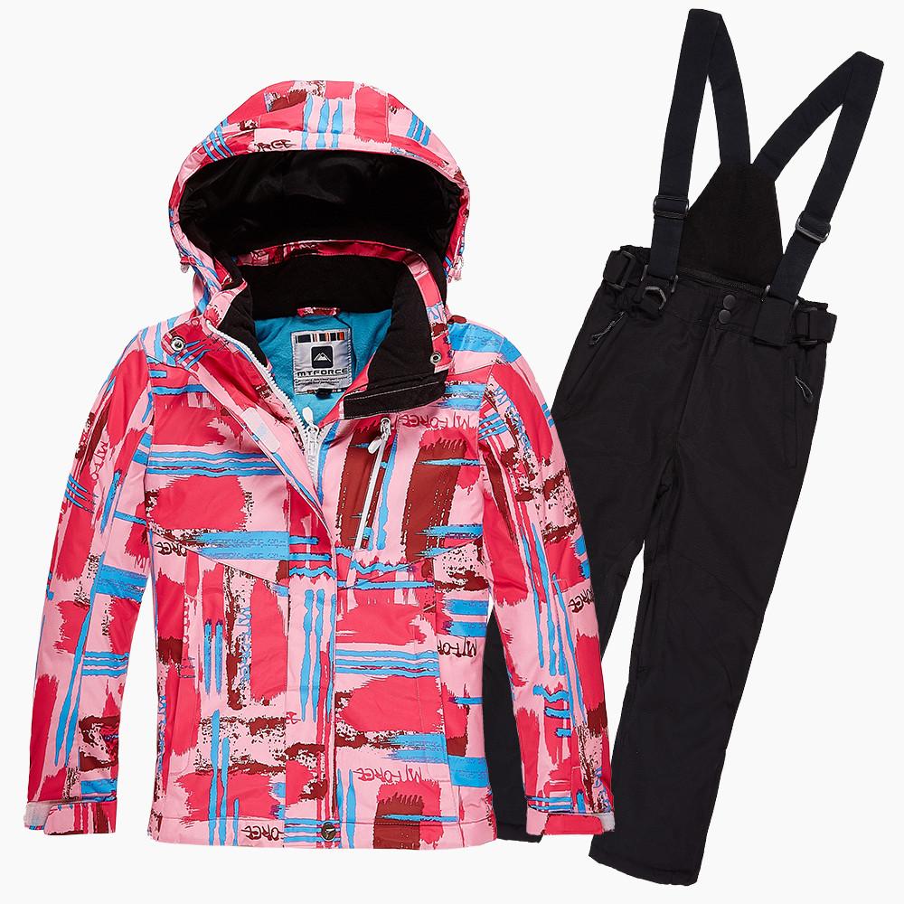 Купить Костюм горнолыжный для девочки розового цвета 01774R