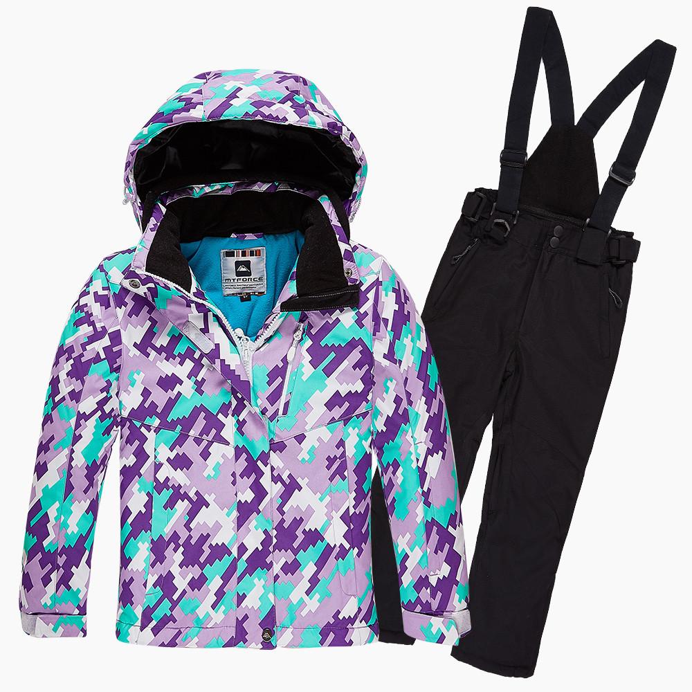 Купить Костюм горнолыжный для девочки фиолетового цвета 01774F