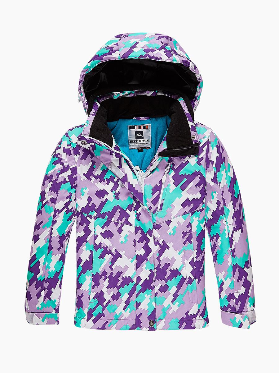 Купить Куртка горнолыжная подростковая для девочки фиолетового цвета 1774F
