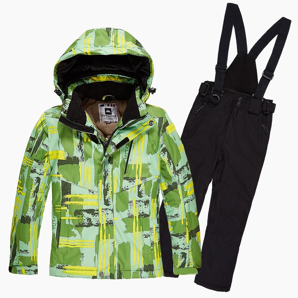 Купить Костюм горнолыжный для девочки салатовый цвета 01774Sl