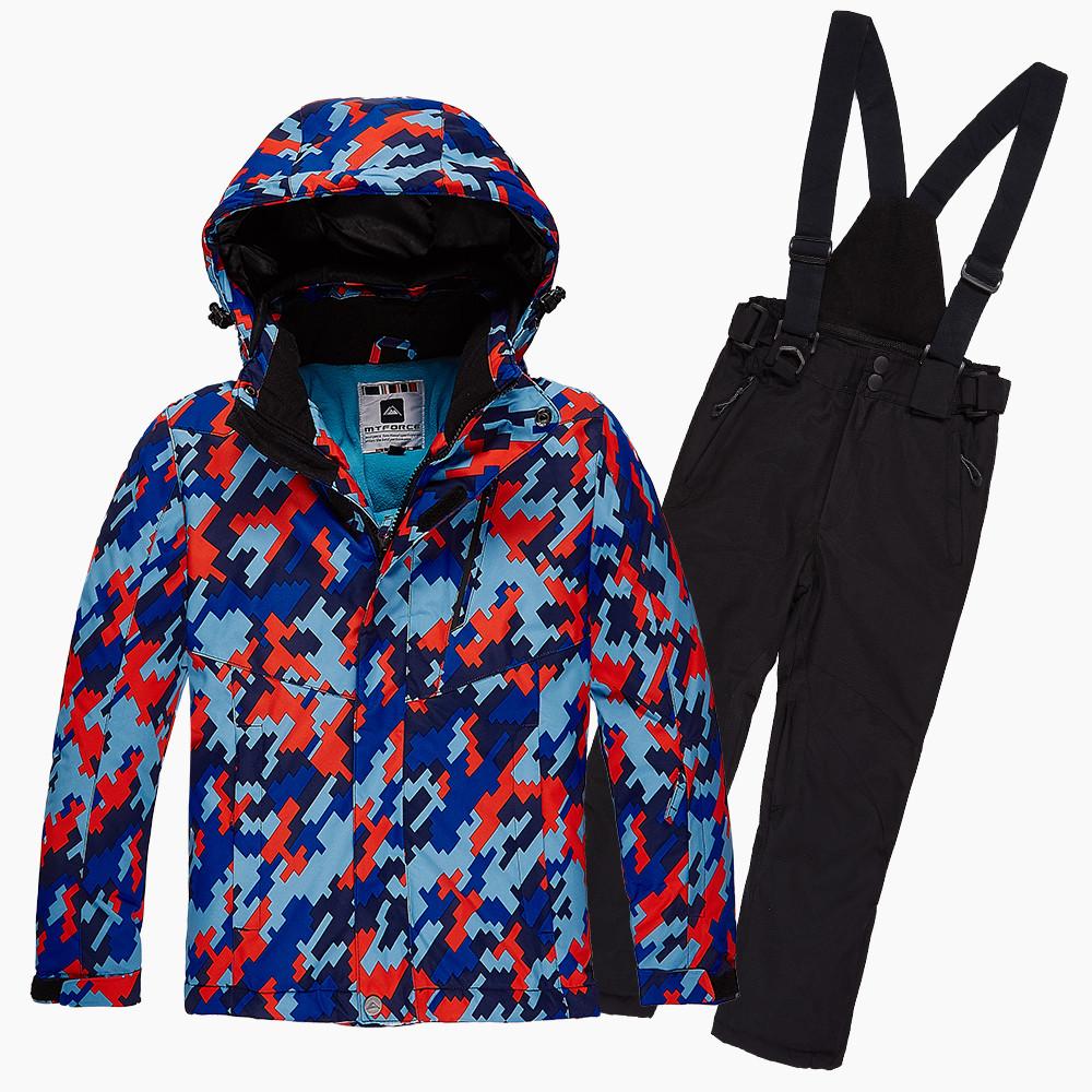 Купить Костюм горнолыжный для девочки красного цвета 01774Kr