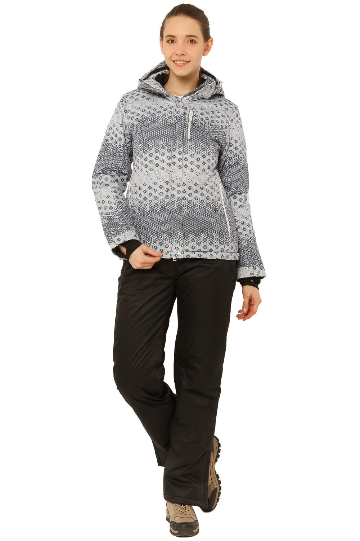 Купить Костюм горнолыжный женский серого цвета 01786Sr