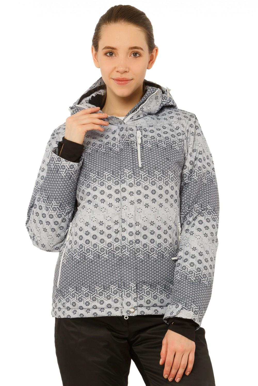 Купить Куртка горнолыжная женская большого размера серого цвета 17881Sr