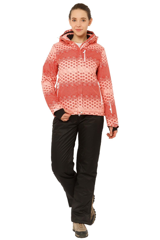 Купить Костюм горнолыжный женский персикового цвета 01786P