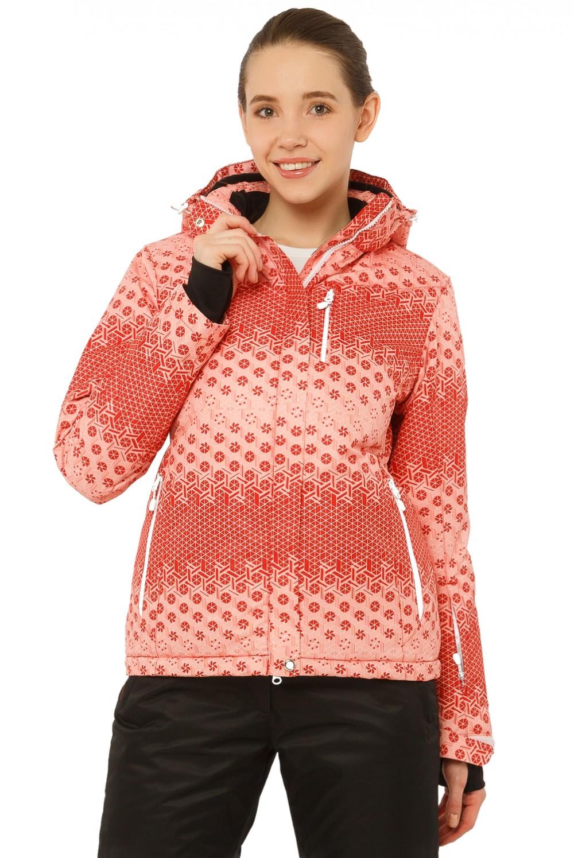 Купить Куртка горнолыжная женская персикового цвета 1786P