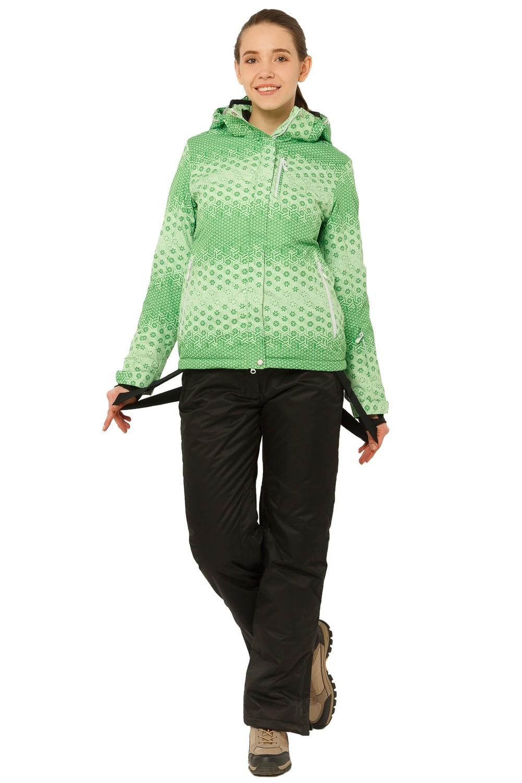 Купить Костюм горнолыжный женский зеленого цвета 01786Z