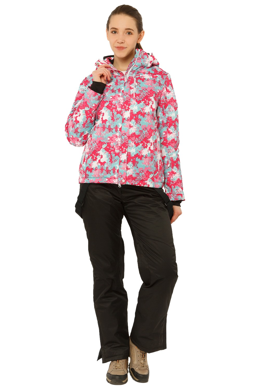 Купить Костюм горнолыжный женский розового цвета 01787R