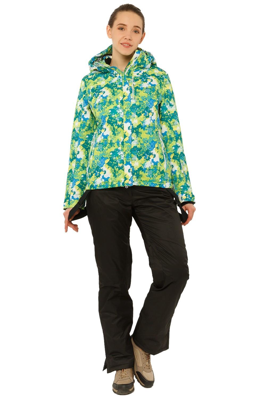 Купить Костюм горнолыжный женский зеленого цвета 01787Z