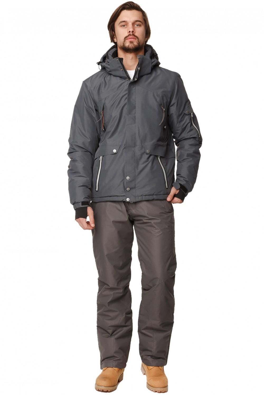 Купить Костюм горнолыжный мужской темно-серого цвета 01788TC