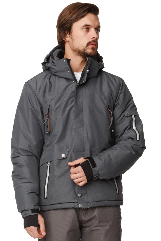 Купить Куртка горнолыжная мужская темно-серого цвета 1788TC
