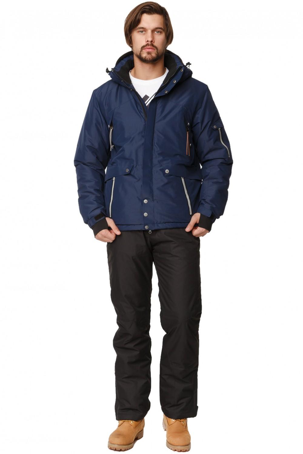 Купить Костюм горнолыжный мужской темно-синего цвета 01788TS