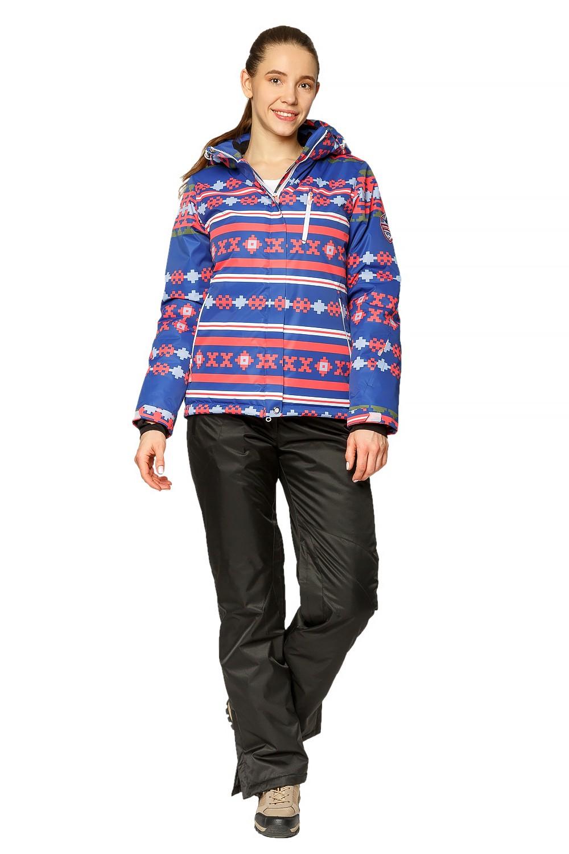 Купить Костюм горнолыжный женский синего цвета 01795S