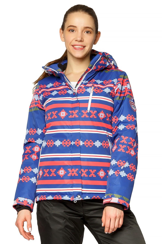 Купить Куртка горнолыжная женская синего цвета 1795S