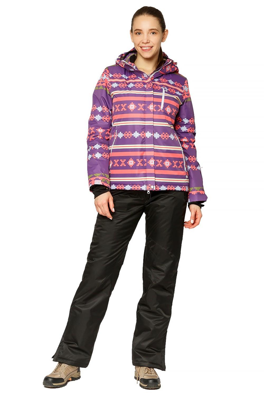 Купить Костюм горнолыжный женский фиолетового цвета 01795F