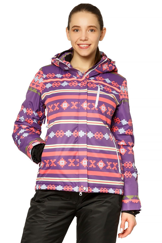 Купить Куртка горнолыжная женская фиолетового цвета 1795F