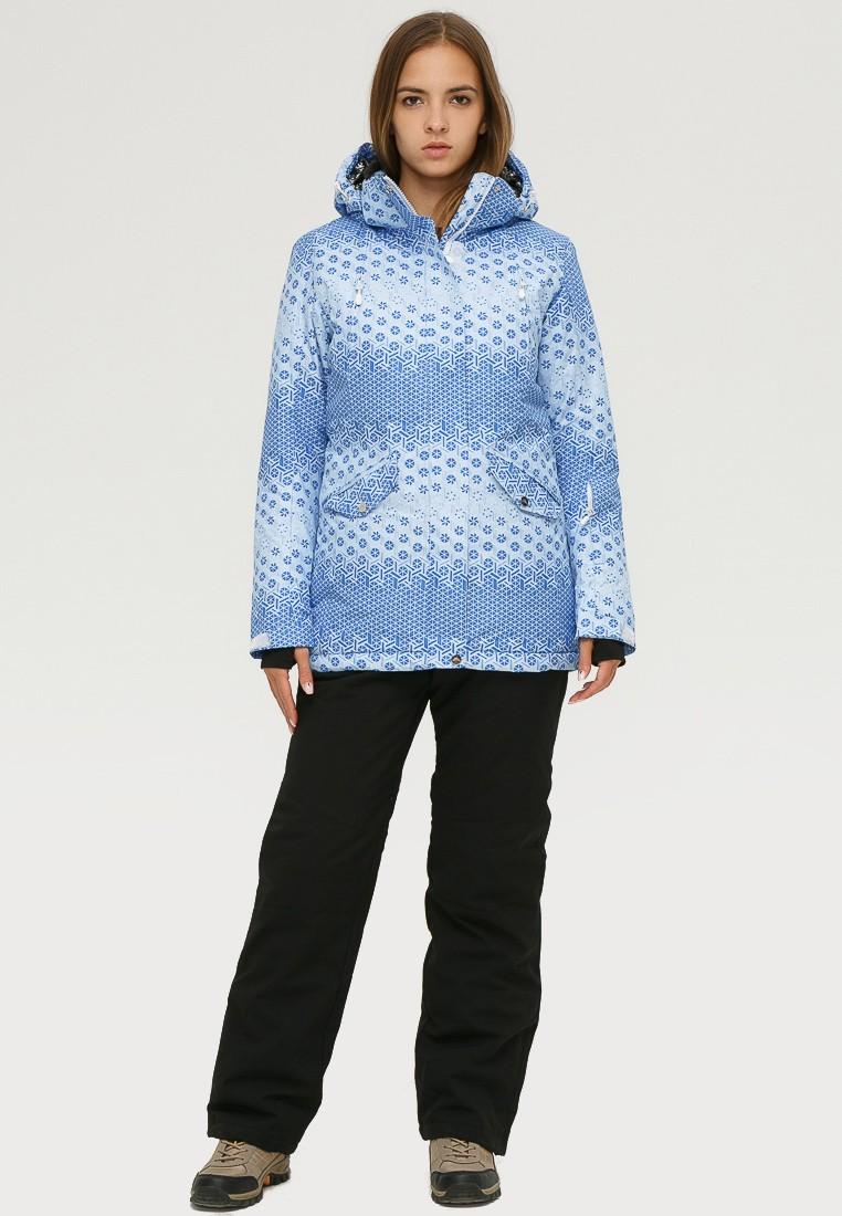 Купить Костюм горнолыжный женский голубого цвета 01803Gl