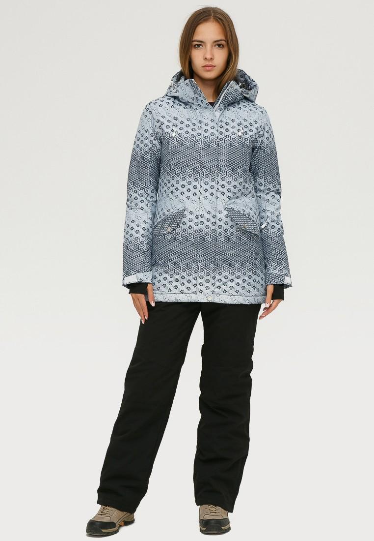 Купить Костюм горнолыжный женский серого цвета 01803Sr