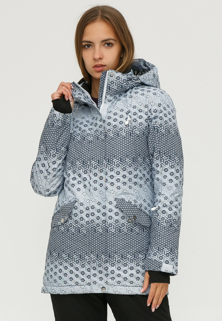 Купить Куртка горнолыжная женская серого цвета 1810Sr