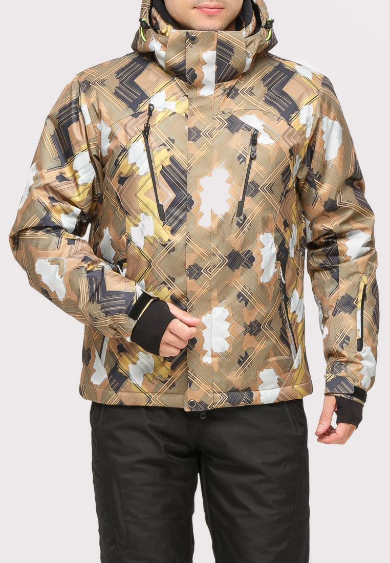 Купить Куртка горнолыжная мужская коричневого цвета 18108K