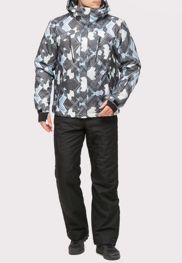 Купить Костюм горнолыжный мужской серого цвета 018108Sr