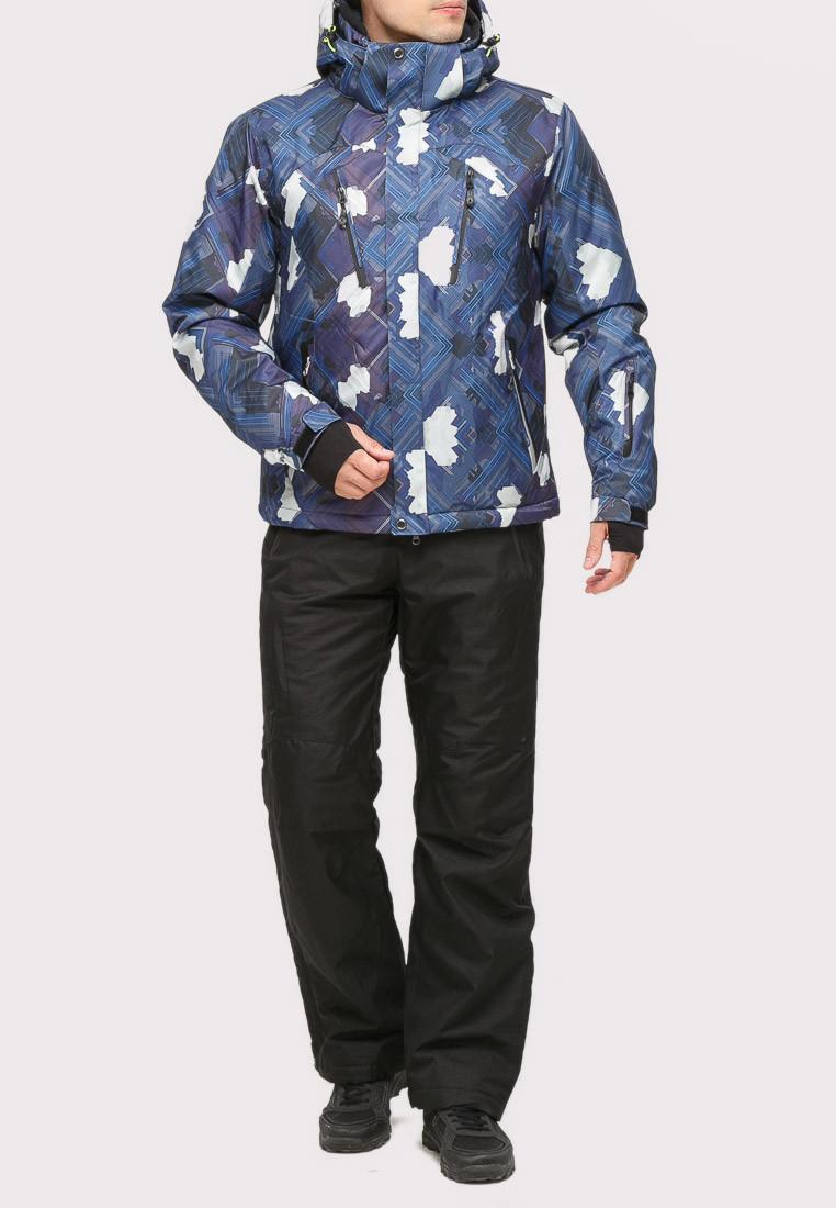 Купить Костюм горнолыжный мужской темно-синего цвета 018108TS