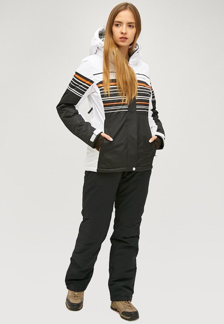 Купить Женский зимний горнолыжный костюм черного цвета 01856Ch