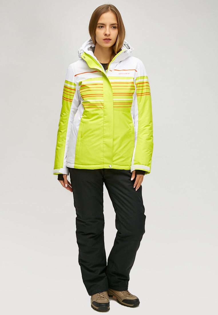 Купить Женский зимний горнолыжный костюм салатового цвета 01856Sl