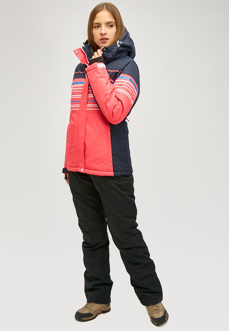 Купить Женский зимний горнолыжный костюм розового цвета 01856R