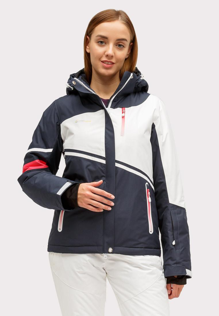 Купить Куртка горнолыжная женская темно-синего цвета 1811TS