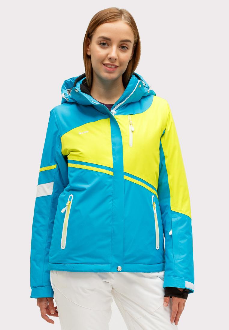 Купить Куртка горнолыжная женская синего цвета 1811S