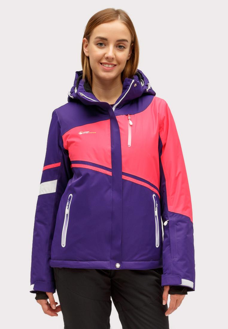 Купить Куртка горнолыжная женская темно-фиолетового цвета 1811TF