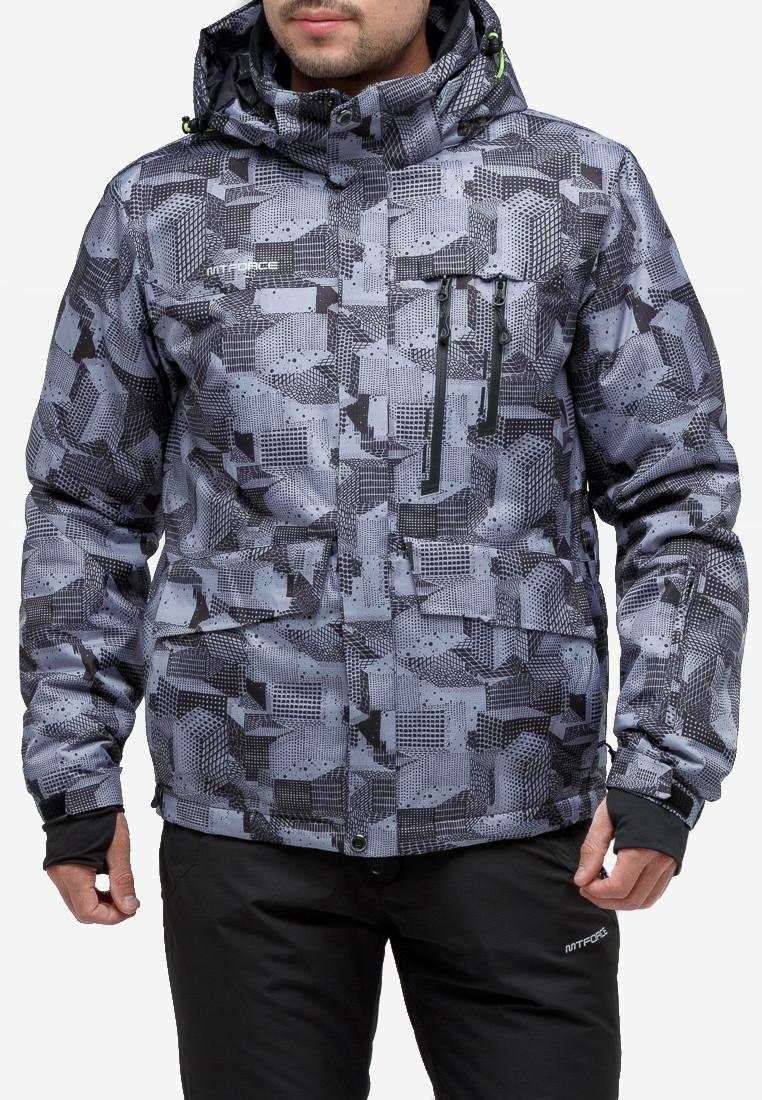 Купить Куртка горнолыжная мужская серого цвета 18122-1Sr