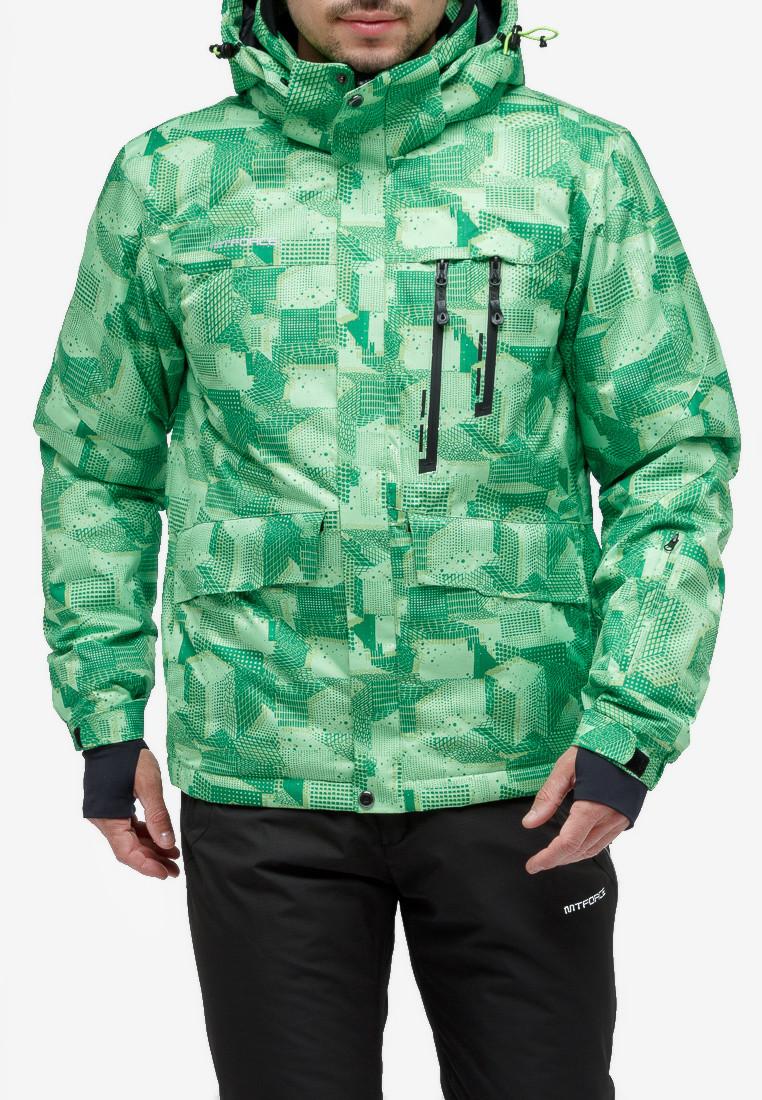 Купить Куртка горнолыжная мужская зеленого цвета 18122-1Z