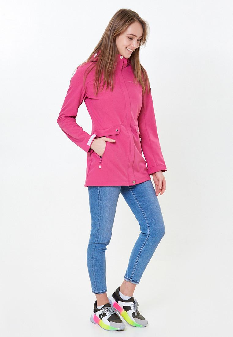 Купить Ветровка softshell женская розового цвета 18125-1R