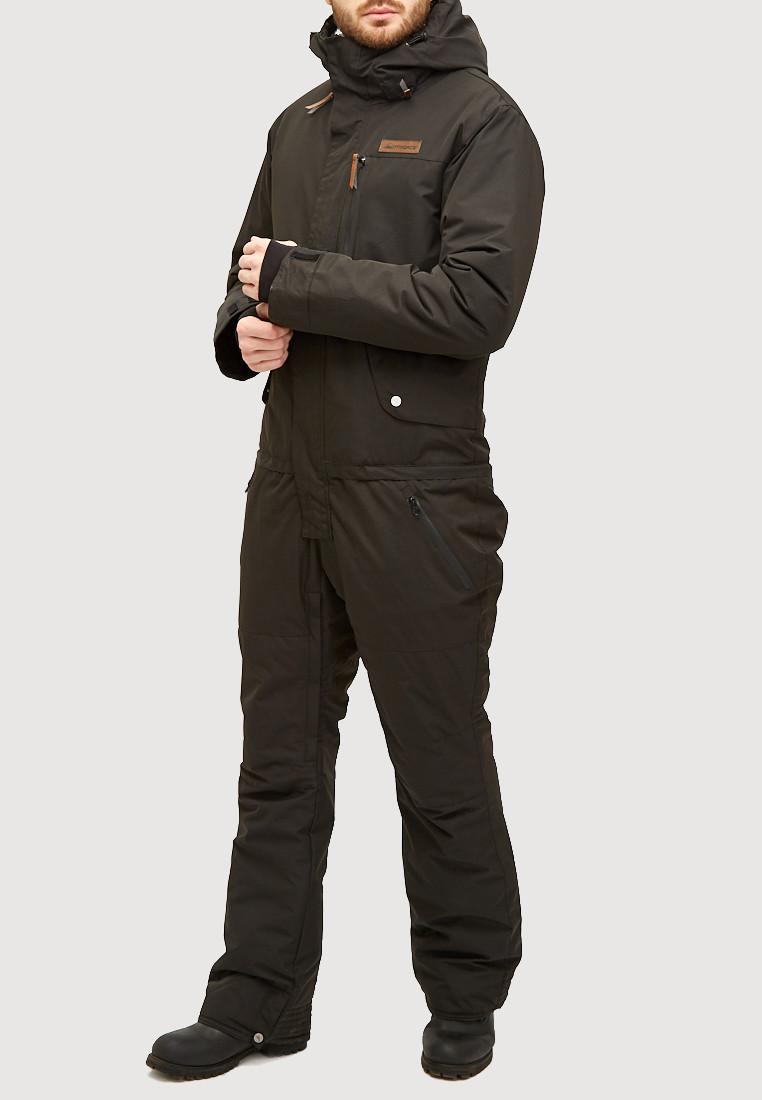 Купить Комбинезон горнолыжный мужской черного цвета 18126Ch