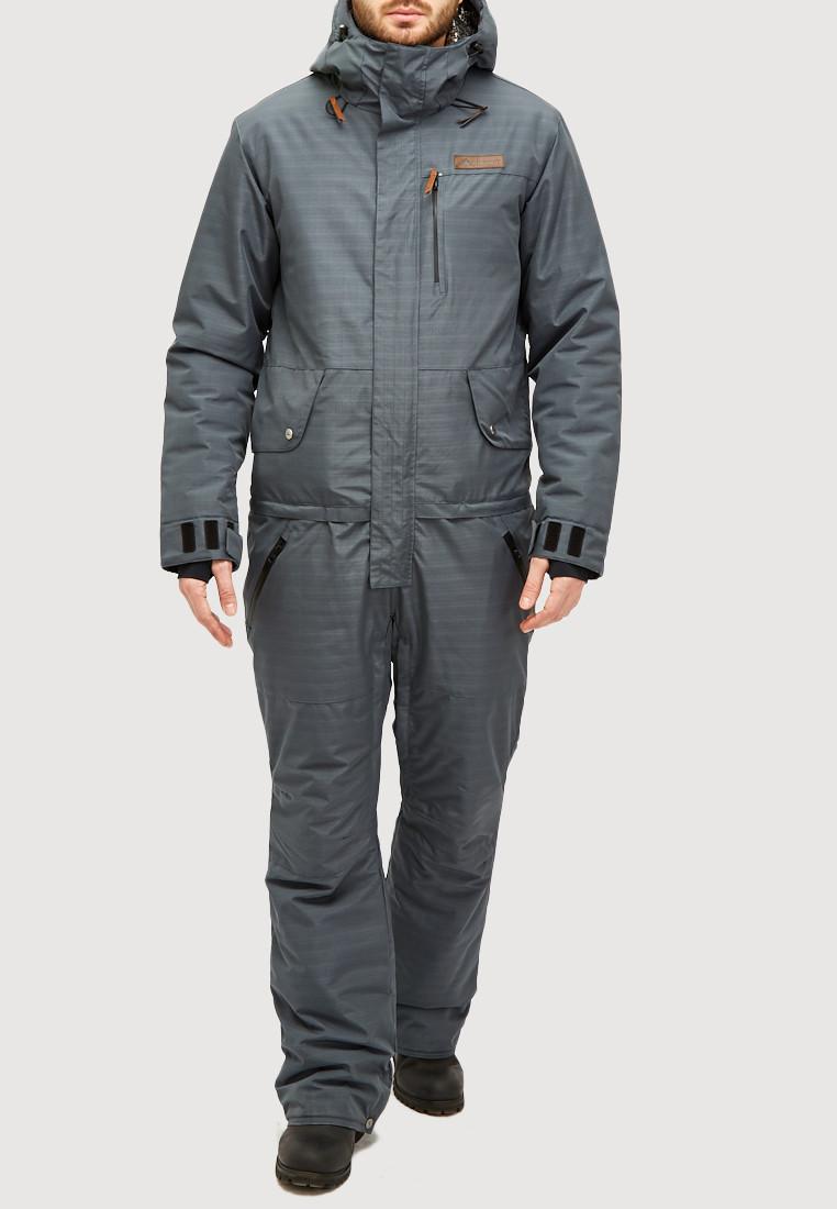 Купить Комбинезон горнолыжный мужской темно-серого цвета 18126TC