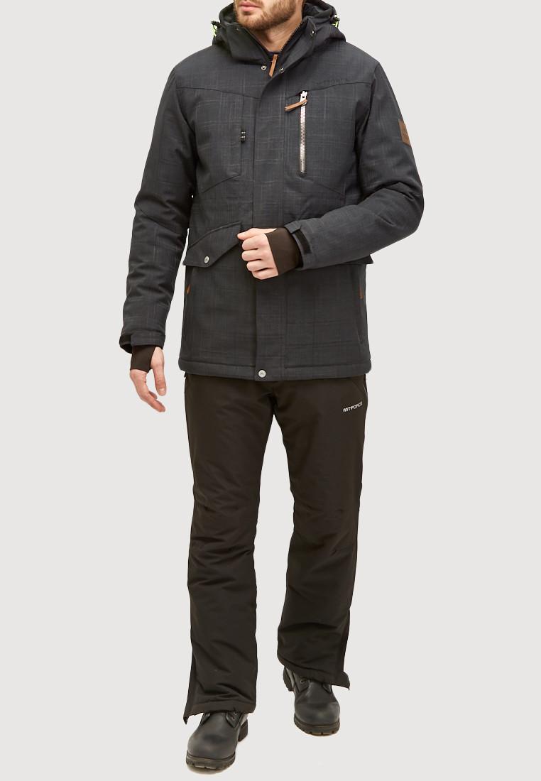 Купить Мужской зимний горнолыжный костюм черного цвета 018128Ch