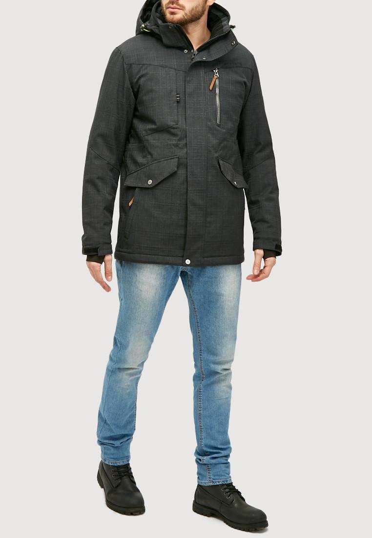 Купить Мужская зимняя горнолыжная куртка черного цвета 18128Сh