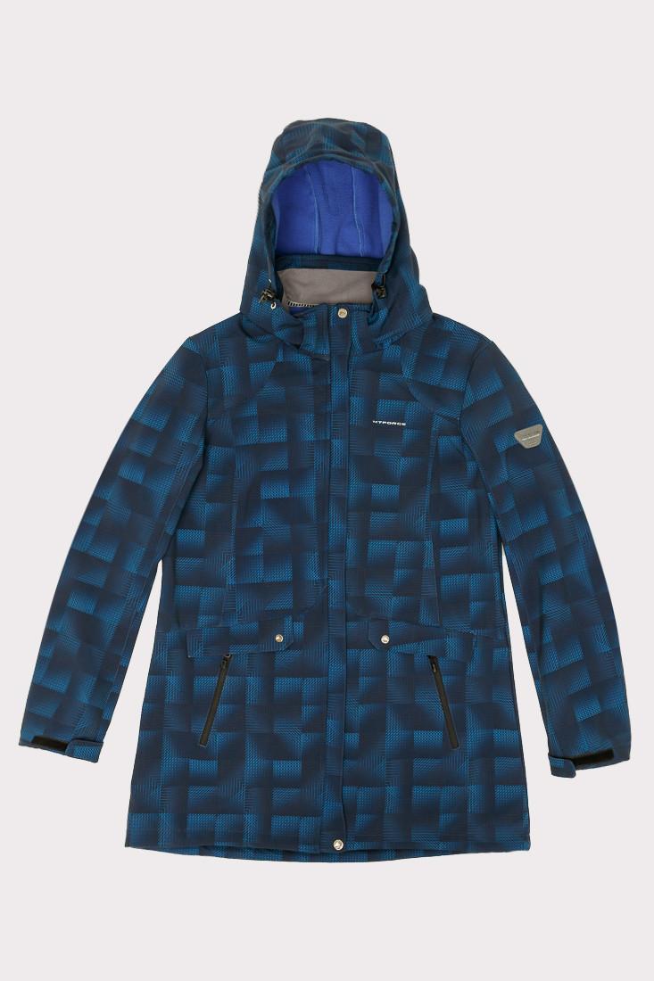 Купить Ветровка softshell женская большого размера темно-синего цвета 1833TS