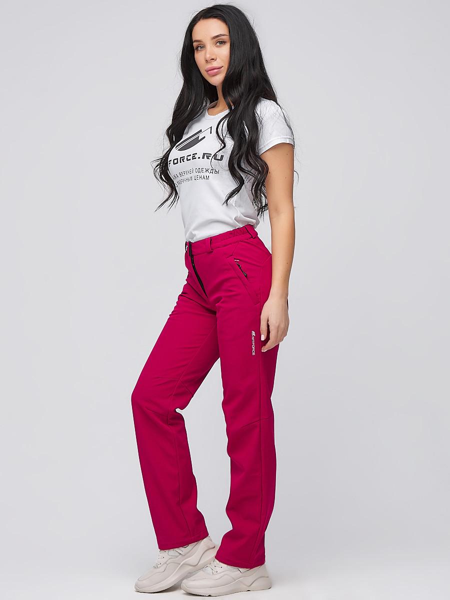 Купить Брюки женские из ткани softshell бордового цвета 1851Bo