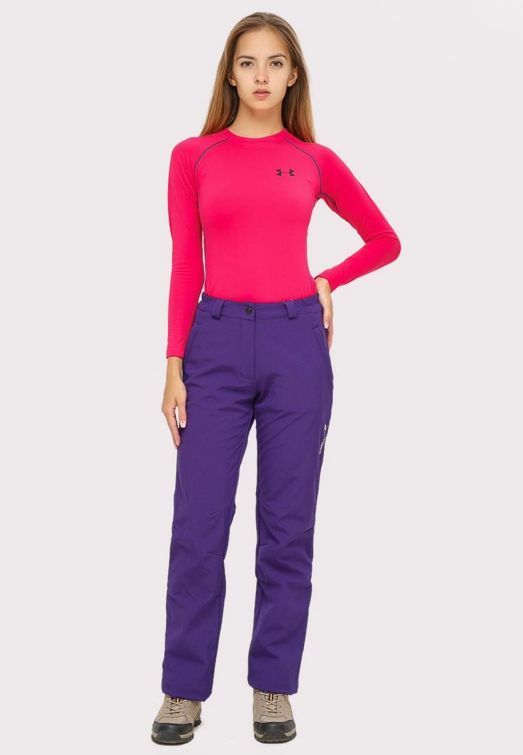 Купить Брюки женские большого размера фиолетового цвета  1852-1F