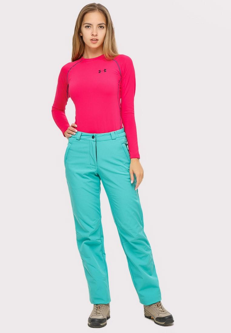 Купить Брюки женские большого размера бирюзового цвета  1852-1Br