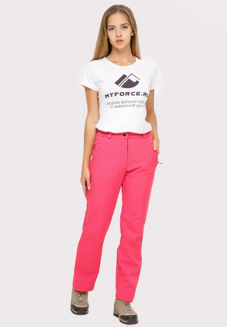 Купить Брюки женские из ткани softshell розового цвета 1851R