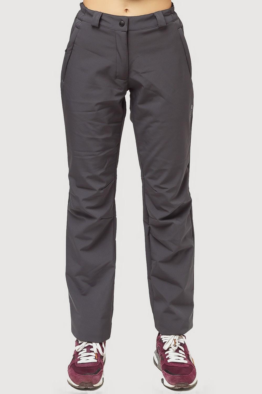 Купить Брюки женские из ткани softshell темно-серого цвета 1851TC