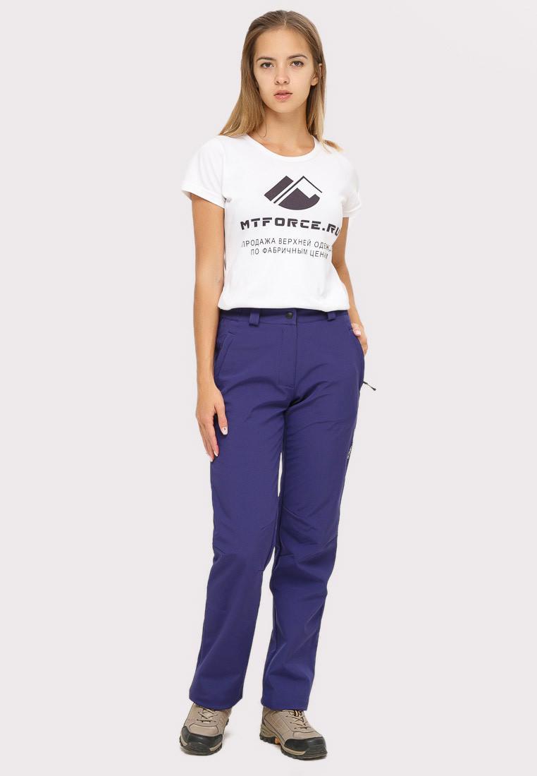 Купить Брюки женские из ткани softshell темно-фиолетового цвета 1851TF