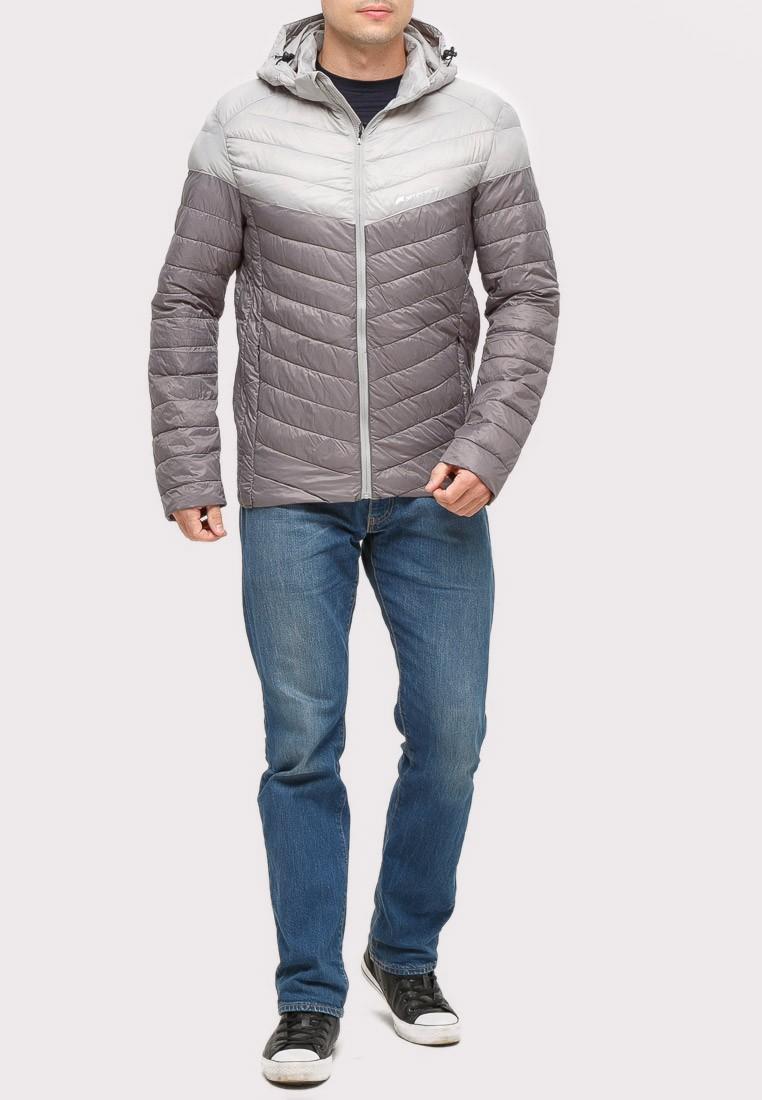 Купить Куртка мужская стеганная серого цвета 1853Sr
