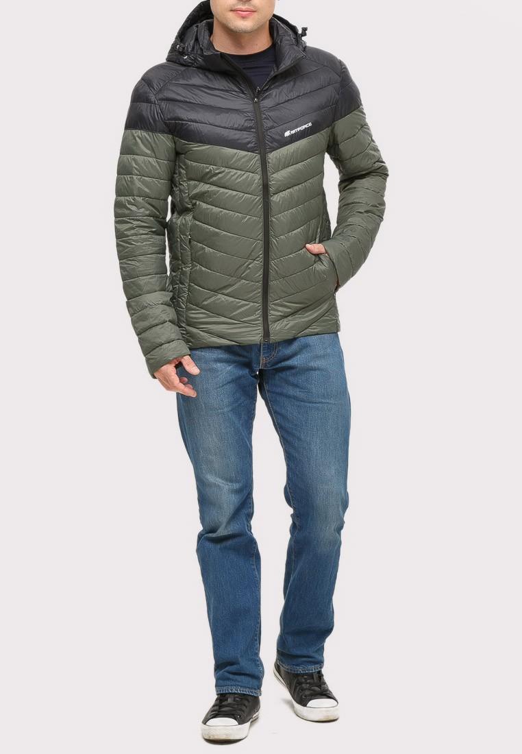 Купить Куртка мужская стеганная цвета хаки 1853Kh