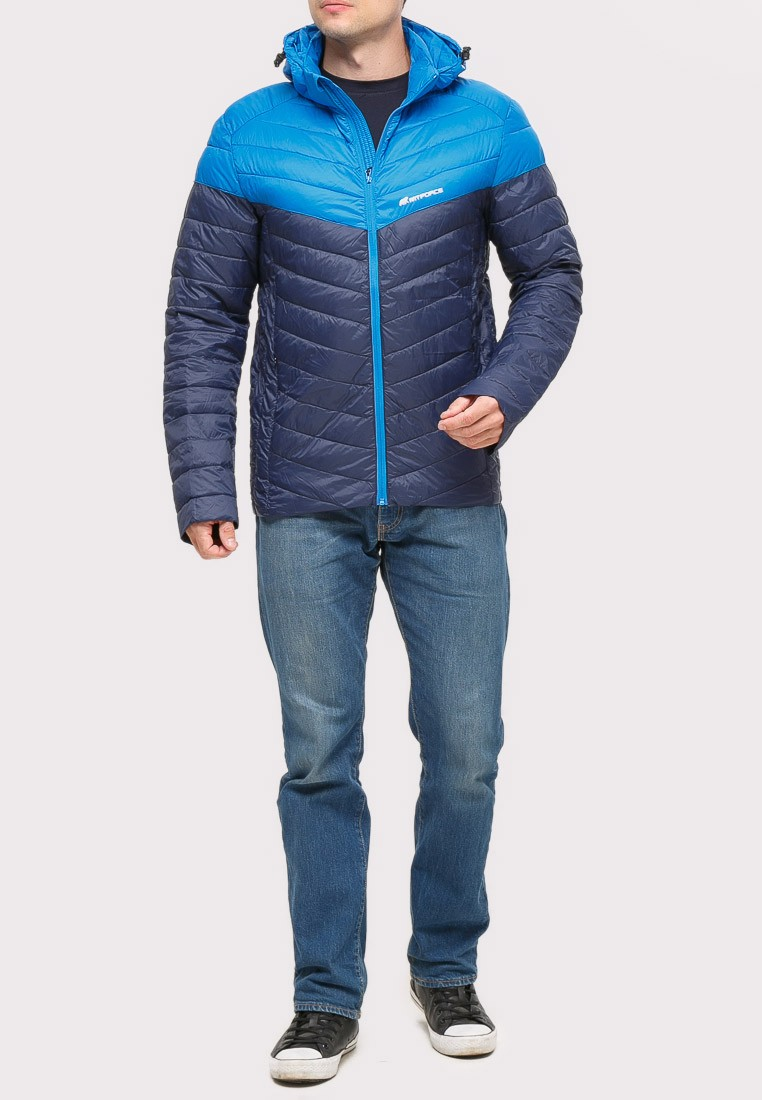 Купить Куртка мужская стеганная темно-синего цвета 1853TS