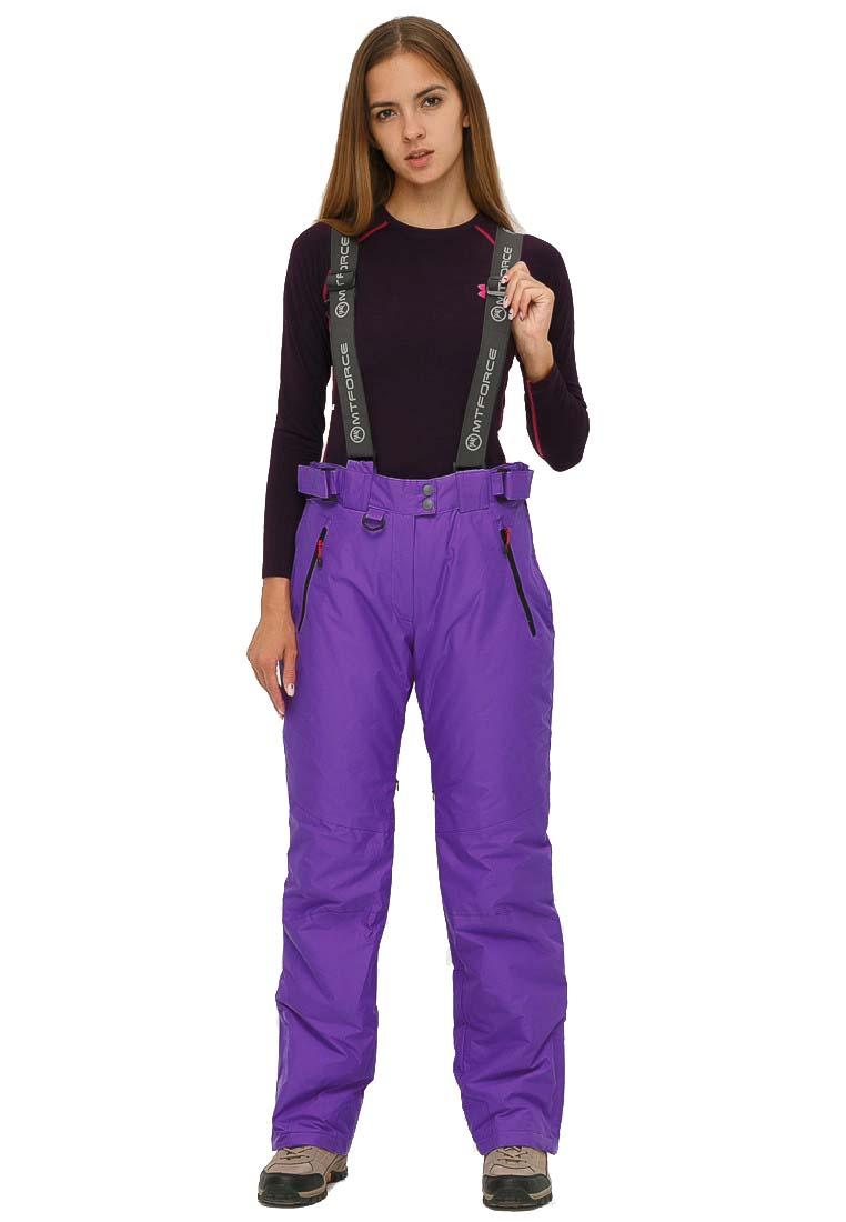 Купить Брюки горнолыжные женские большого размера фиолетового цвета 1878F