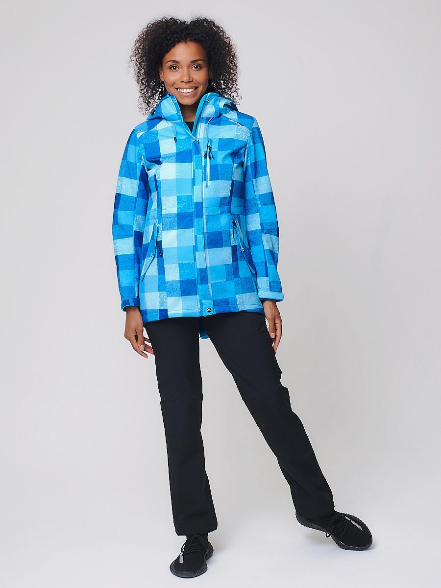 Купить Костюм женский softshell синего цвета 01923S